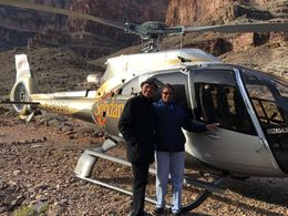 Sheryl and Larry showing that they both completed the Helicopter Ride - One Down on the Bucket List!!!! , Larry H - December 2015