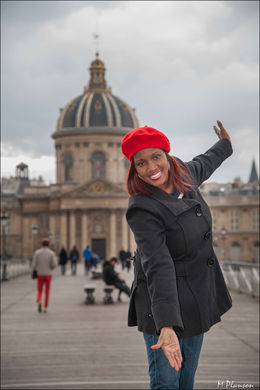 Enjoying a beautiful day in Paris! , Ifetayo E - April 2016