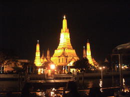 View of the temple at night. , Hannah W - August 2012