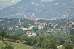 Photo of Florence Vespa Small Group Day Trip to the Chianti Wine Region View from the road