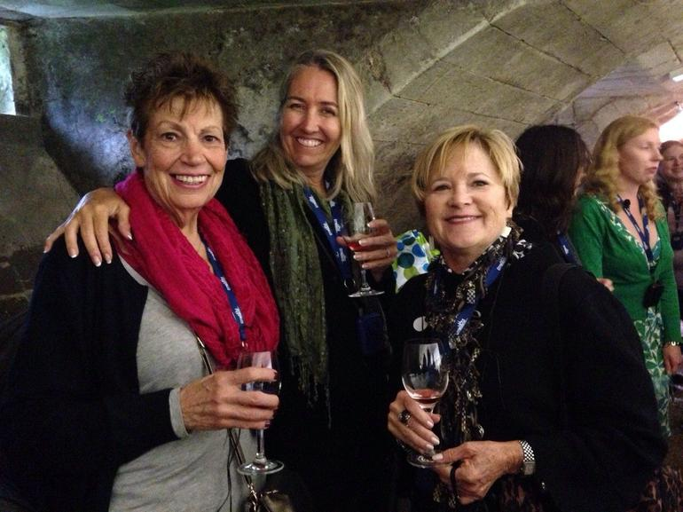 We enjoyed a second wine tasting at the Chateau Chenonceau with the girls.
