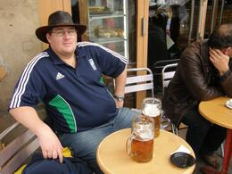 Taking a breather after spending a morning in the Louvre., Tighthead Prop - September 2010