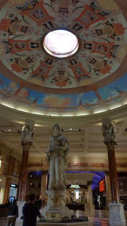 One of the domed ceilings of Caesar's Palace. , ashes - February 2016