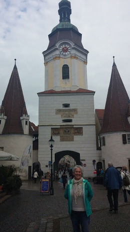 Me headed into the main street in the medieval village of Krems. , Jennifer B - November 2015