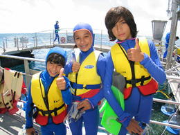 The boys getting ready for the water! - September 2014