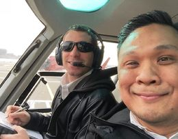 Seated next to the pilot, I had awesome view of the Big Apple! , Rommel Lapuz - May 2016