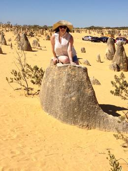 Just hanging out in the Pinnacles Desert, Kierra - March 2014
