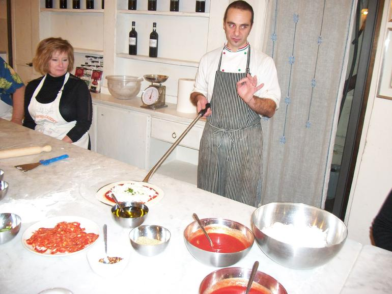 pizza making - Florence