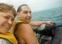 Photo of Cancun Cancun Waverunner and Snorkel Combination Tour Riding the waves!