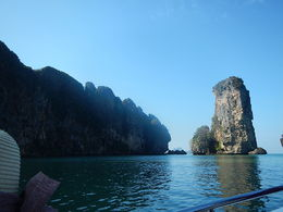 Photo of   Rock formations on the way to Koh Phi Phi