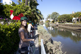 Photo of Los Angeles Electric Bicycle Tour of Santa Monica and Venice Beach Scenic ride along the canal