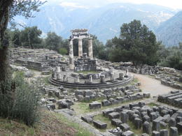 "Photo of Athens 4-Day Classical Greece Tour: Epidaurus, Mycenae, Olympia, Delphi, Meteora ""Tholos"" by the Temple of Athena"