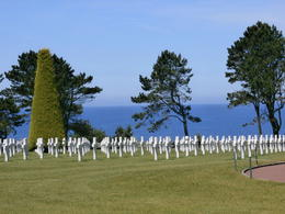Just one small section of this beautiful cemetery, showing how it overlooks the ocean to create a peaceful setting. , Carol Y - June 2014