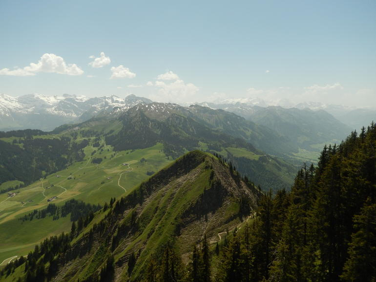 A view from the top Towards Mount Titlis