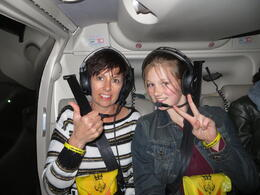 My wife and daughter and quot;ready for take off and quot;. , Robert D - October 2013