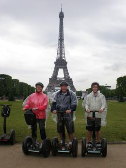 Here we are on a soggy, wet day in Paris but had a great time on the Segways., Daryl W - July 2010