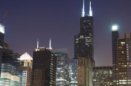 Photo of   Chicago Loop Buildings at night