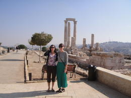 Photo of Amman Private Amman City Sightseeing Tour with Optional Arabic Mezze Lunch and Turkish Bath Citadel