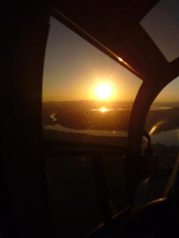 Photo of Las Vegas Grand Canyon West Rim Deluxe Sunset Helicopter Tour Flying back to Vegas