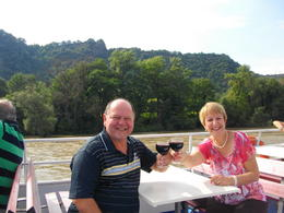 Nice wine on boat , Bill N - August 2014