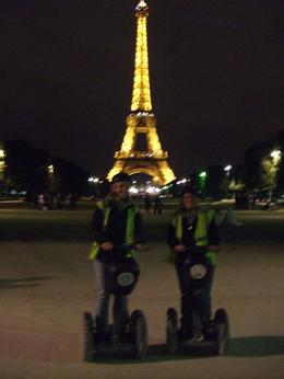Teresa and Kellie in front of the world famous Eiffel Tower, Teresa B - October 2009