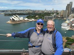 Steve and Lynn Palmer on the top. We made it and neither wanted to turn back or had jelly legs. , Stephen P - May 2015