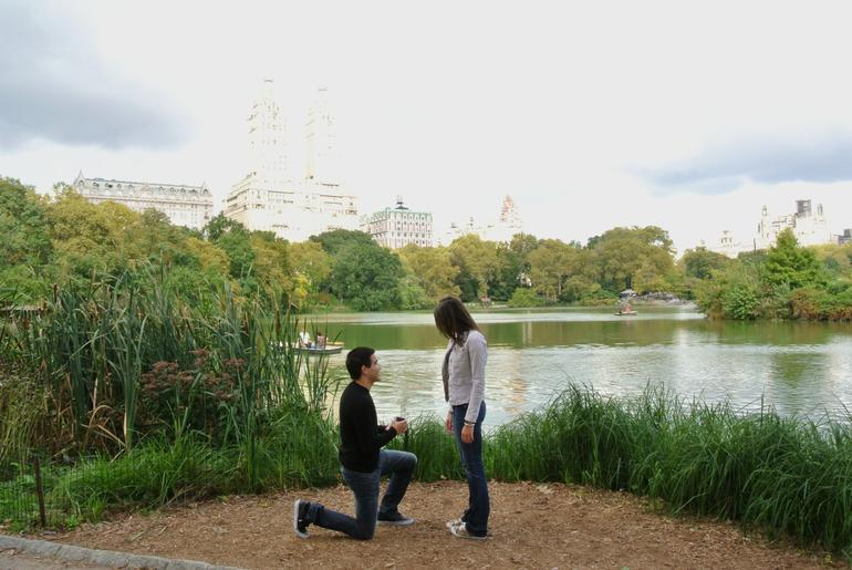 proposal at The Lake - New York City