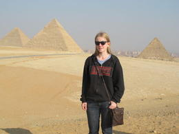 Myself, in front of the three Pyramids. , Rachel S - December 2012