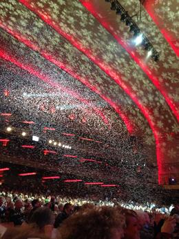 Photo of New York City Radio City Music Hall Christmas Spectacular Snowing