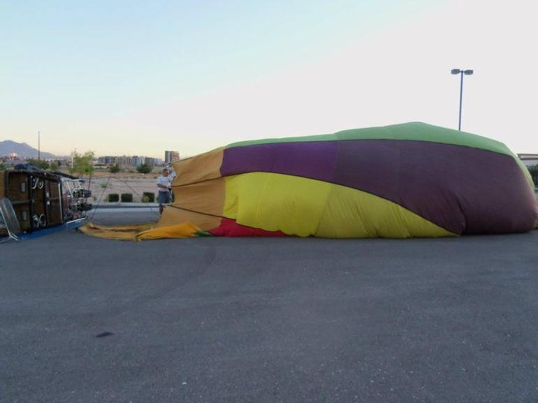 Starting to inflate the balloon - Las Vegas