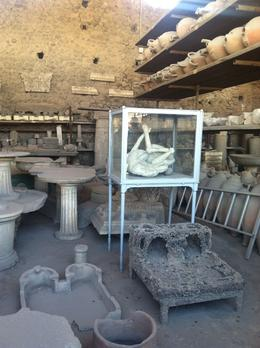 Photo of Rome 3-Day Italy Trip: Naples, Pompeii, Sorrento and Capri Storage of artifacts at Pompeii