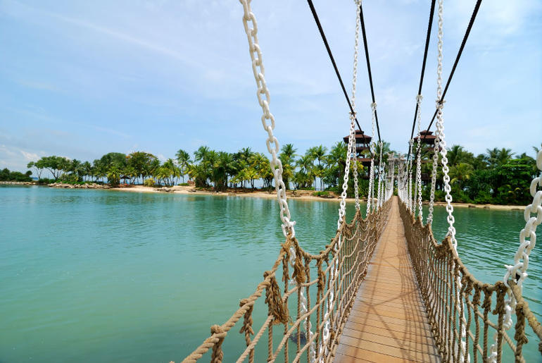 Suspension Bridge, Sentosa - Singapore