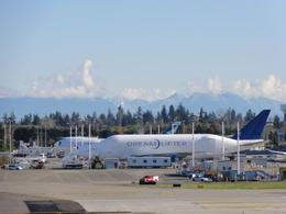 Future of Flight: The Dreamlifter plane which brings parts for the 787 to the factory, John C - November 2010