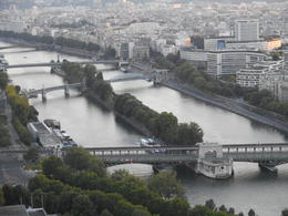 A view of the Seine River from the Eiffel Tower. , Robbie M - June 2014