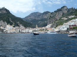 Amalfi, taken from the optional boat trip during the tour , Joanne P - June 2016