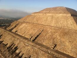 Photo of Mexico City Teotihuacan Pyramids Hot-Air Balloon Tour Close-up above the pyramids
