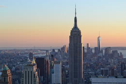 Photo of New York City Top of the Rock Observation Deck, New York Coucher de soleil