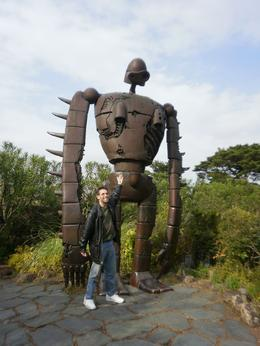 "This robot, from ""Castle in the Sky"" is on the top of the Studio Ghibli Museum., Jonathan L - April 2010"