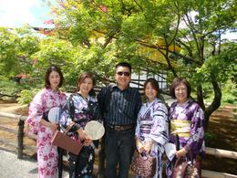 Kavin with local Japanese ladies from Nagoya and Kyoto at Kinkakuji Temple (Golden Pavilion), KAVIN SIM - September 2010