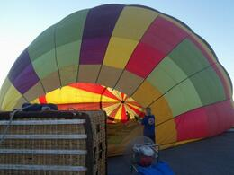 Photo of Las Vegas Las Vegas Sunrise Hot Air Balloon Ride Inflating the balloon