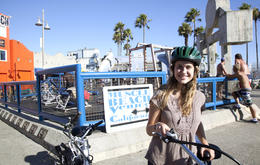 Photo of Los Angeles Electric Bicycle Tour of Santa Monica and Venice Beach Muscle Beach