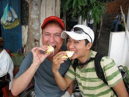 Being from the U.S, I had never tasted durian fruit. Our tour guide stopped along the way and negotiated the purchase of one that I could share with the rest of our small group., Kevin S - July 2010