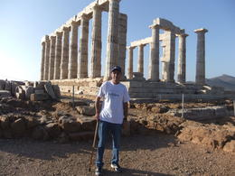 Mario at Temple of Poseidon, during Cape Sounion and Temple of Poseidon Afternoon trip from Athens , Mario S - October 2013