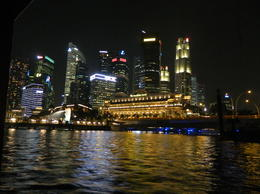 Photo of Singapore Singapore's Chinatown Trishaw Night Tour View from the Bumboat