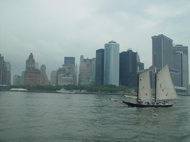 View of Manhatten from Boat - New York City