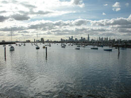 View of Melbourne from St. Kilda, Cat - December 2011