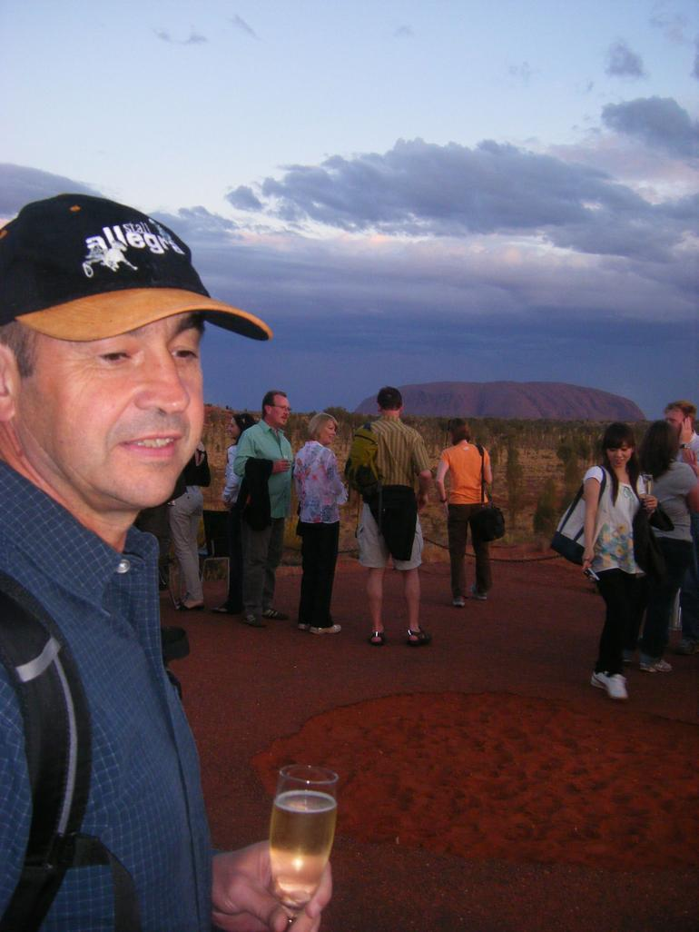 Wine and canapes - Ayers Rock