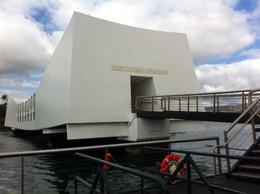 Dock and ramp leading into the Arizona Memorial. , Charles M - January 2012
