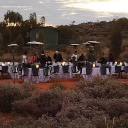 Photo of Ayers Rock Sounds of Silence Restaurant Arriving for dinner