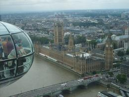 View of Big Ben and House of Parliament from the top of the London Eye, Kos R - August 2009